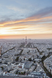 France, Paris, City view at sunset - RPSF00185