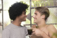 Homosexual couple smiling at each other - LFEF00051