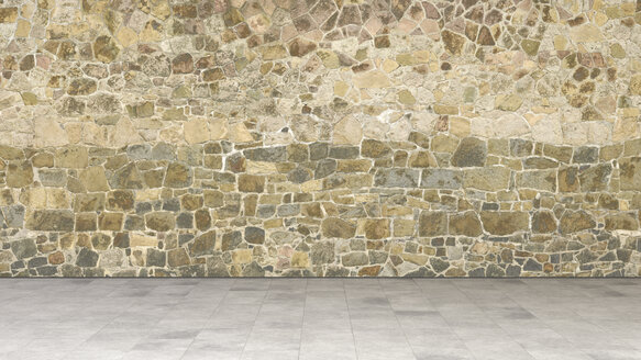 Natural stone wall, 3d rendering - UWF01351
