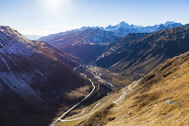 Switzerland, Valais, Alps, view to Furka and Grimsel Pass - WDF04371