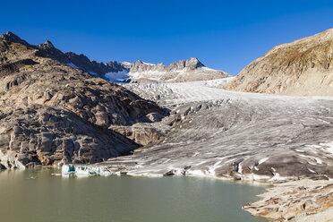 Switzerland, Valais, Alps, Rhone glacier - WDF04377