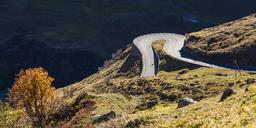 Switzerland, Valais, Alps, Furka pass, hairpin bend - WDF04392