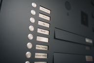 Doorbell button panel with empty nameplate - MF04385