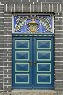 Germany, Lower Saxony, Lueneburg, Old town, Entry door, art nouveau - LBF01737