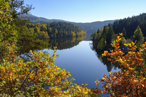 Germany, bavaria, Bavarian Forest, Hoellensteinsee, dam at river Regen - SIEF07703