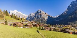 Switzerland, Bern, Bernese Oberland, holiday resort Grindelwald, Wetterhorn, Schreckhorn, Eiger - WDF04397
