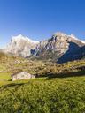 Switzerland, Bern, Bernese Oberland, holiday resort Grindelwald, Wetterhorn, Schreckhorn - WDF04403