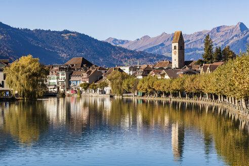 Switzerland, Bern, Bernese Oberland, Interlaken, Old town, Aare river - WDF04409