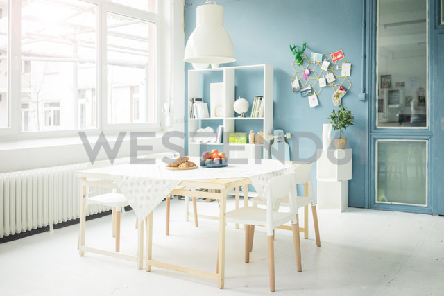 Laid table in a modern loft - MOEF00702