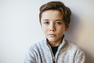 Portrait of confident brunette boy - EBSF02107