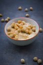 Bowl of Hummus garnished with chick peas - LVF06664