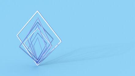 Abstract balancing squares, 3d rendering - AHUF00475