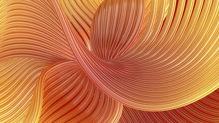 Abstract swirling waves, 3d rendering - AHUF00487