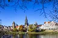 Germany, Baden-Wuerttemberg, Ulm, Ulm Minster and Danube river - PUF01304
