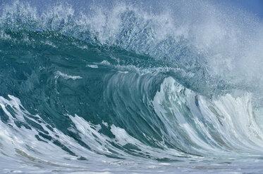 USA, Hawaii, Oahum, Pacific Ocean, big dramatic wave - RUEF01815