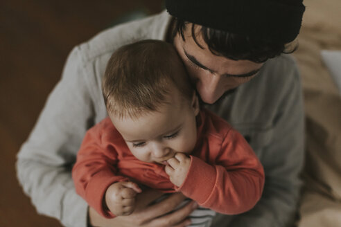 Close-up of father with baby - DWF00326