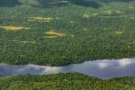 USA, Alaska, Talkeetna: Aerial view of river and forest landscape - MMAF00276