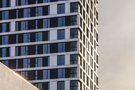 Germany, Stuttgart, modern apartment tower, partial view - WDF04420