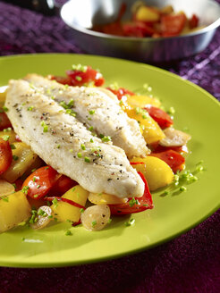 Shark catfish fillet with paprika vegetables, low carb - SRSF00638