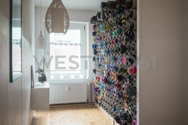 Room with assortment of yoga mats - MOEF00795