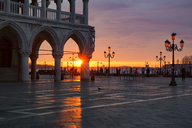 Italy, Veneto, Venice, St Mark's Square and Doge's Palace at sunrise - YRF00199
