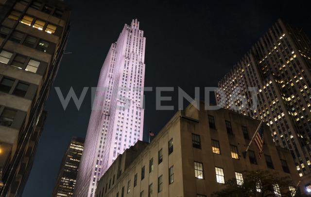 USA, New York City, Rockefeller Center at night - SEEF00015