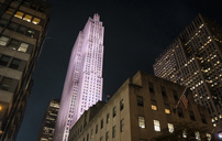 USA, New York City, Rockefeller Center at night - SEEF00015