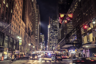 USA, New York City, street scene at night - SEEF00021