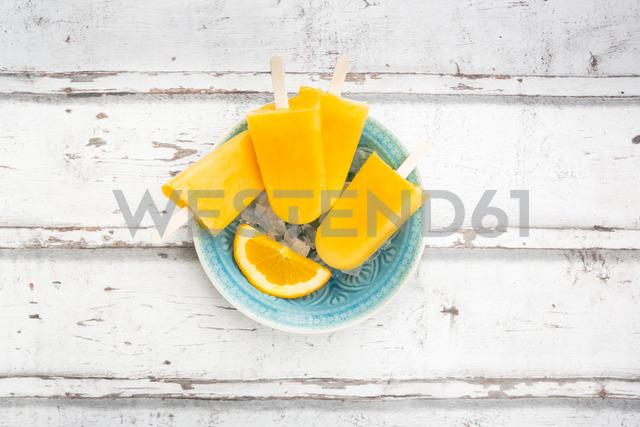 Homemade orange popsicles - LVF06683