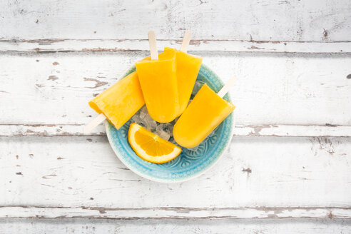Homemade orange popsicles - LVF06683