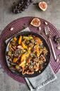 Pumpkin panzanella, bread salad of pumpkins, onions, tomatoes, grapes and figs - SARF03565
