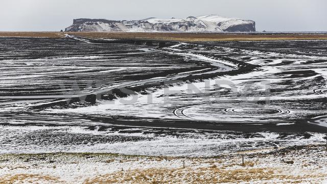 Iceland, Vik, Lava fields under snow - WPEF00112