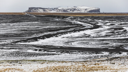 Iceland, Vik, Lava fields under snow - WPEF00112