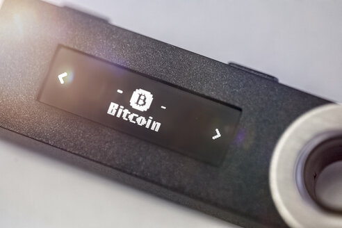 A digital hardware wallet for storing bitcoin, USB stick - MMAF00287