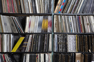 Rows of records on shelves - FSIF00374