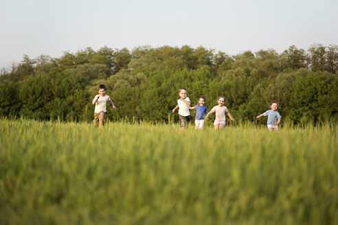 Children running in a field - FSIF00452