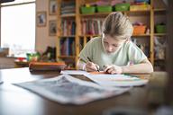 Girl doing her homework - FSIF00614