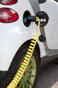 Detail of a charger connected to an electric car recharging - FSIF00656