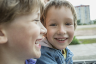 Two boys smiling, close-up - FSIF00767