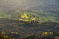 Germany, Bavaria, Upper Bavaria, Isarwinkel, view from Zwiesel, Arzbach near Lenggries in the morning - SIEF07720