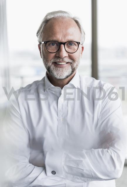 Portrait of smiling mature businessman - UUF12744