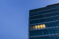 Germany, Baden-Wuerttemberg, office building at night - WDF04439
