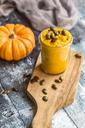 Glass of pumpkin pesto with pumpkin seed - SARF03571
