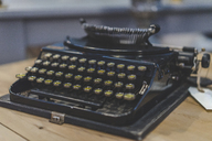 Old black typewriter - AFVF00056