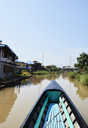 Myanmar, Inle lake, Fishing boat - IGGF00417