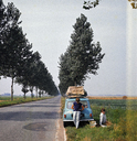 People parked at the side of the road for a picnic - FSIF01999