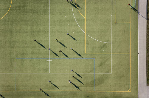 Aerial view of football match - FSIF02341
