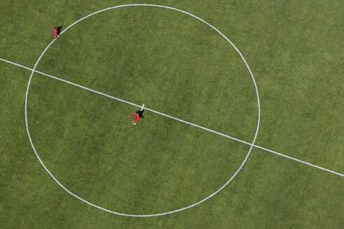 Aerial view of football pitch - FSIF02344