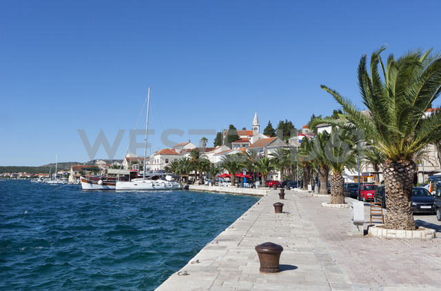 Croatia, Dalmatia, Rogoznica, Adria, Harbour, promenade - WWF04166