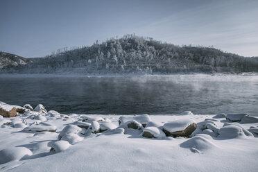 Russia, Amur Oblast, Bureya River in winter - VPIF00313